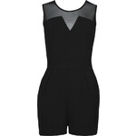 Tally Weijl Black Playsuit with Sheer Neckline