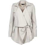 Tally Weijl Grey Draped Light Jacket with Belt