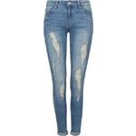 Tally Weijl Blue Destroyed Low Waist Jeans in Slim Fit