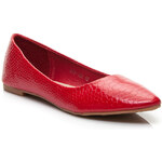GIRLHOOD Červené balerínky se zvířecím vzorem, 608-180R / S2-23P