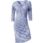RICK CARDONA návrhářské módní šaty, šaty modrobílé (sklad v.44)