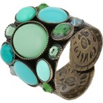 Konplott ALIEN CAVIAR Ring green antique