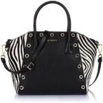 Guess Savvy Zebra Box Satchel Bag