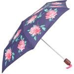 Modrý deštník s velkými květy Tom Joule Brolly