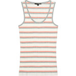 Tally Weijl White, Grey & Coral Basic Vest Top