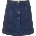 Topshop MOTO Button Front A-Line Skirt