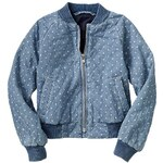 Gap Polka Dot Quilted Denim Jacket - Denim