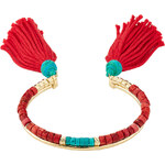 Aurélie Bidermann Sioux Gold Plated Bracelet with Turquoise and Coral