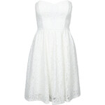 Tally Weijl White Floral Lace Bandeau Skater Dress