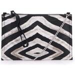 Černo-bílá zebrovaná kabelka Clenapal