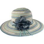 Tonak Dámský slaměný klobouk - modrý 30345-BLUE AKCE
