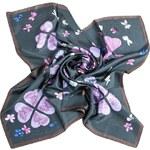 Passerini Luxusní hedvábný šátek Meadow Flowers Dark 13703