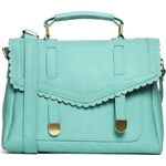 ASOS Satchel Bag With Scallop Flap And Slot Through Straps