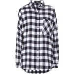 Sisters Point Oversize Flanellbluse mit Brusttasche