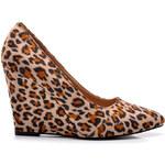 VICES Módní dámské leopardí lodičky na klínku