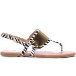 SERGIO TODZI Pohodlné zebří sandály se zlatým zdobením