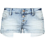 Tally Weijl Blue Ripped Denim Shorts with Long Pockets