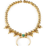 Aurélie Bidermann Navajo 18kt Gold Plated Necklace with Turquoise and Horn