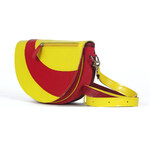 SKYLINE kožená kabelka žlutá 0906