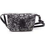 Gallantry Třpytivá černo-stříbrná dámská kabelka