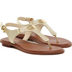 MICHAEL KORS Plate Thong Sandale Gold