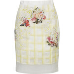 Topshop Limited Edition Organza Check Floral Skirt
