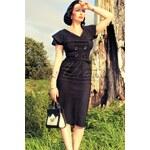 Tatyana Secretary 50s retro pencil dress black