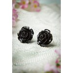 Collectif Clothing 50s English Rose Earstuds Black