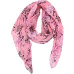 Růžový šátek s květy Pieces Jonelia