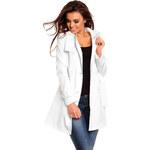 Luxusní dámský plášť Voyelles - bílý