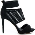 BELLE WOMEN Snové černé sandály - 99112B /S2-67P