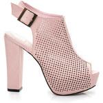 SERGIO TODZI Krásné růžové ažurové sandály - L870P / S3-102P