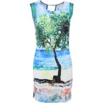 Tyrkysové šaty s plážovým potiskem Culito from Spain