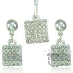 MHM Souprava šperků Kostka M4 Crystal 34119