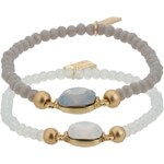sweet deluxe RIANA SET Armband goldfarben/weiß/grau