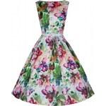 AUDREY květinové svatební šaty ve stylu padesátých let - Retro Šaty