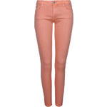 Tally Weijl Orange Cropped Skinny Pants with Low Rise