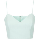 Topshop Crepe Sweetheart Crop Top
