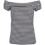 Bílo-černé pruhované tričko ONLY Julie