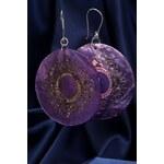 Perleťové náušnice NB045 fialové