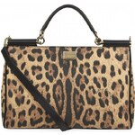 Dolce & Gabbana Medium Sicily Leopard East/West Tote
