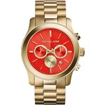 Michael Kors Oversize Golden Stainless Steel Runway Chronograph Watch