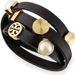 Tory Burch Livia Leather Wrap Bracelet