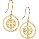 Tory Burch Deco Logo Drop Earrings