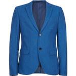Topman Mens Cobalt Flannel Skinny Blazer