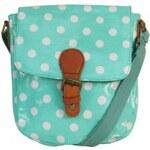 Pink Fashion Menší kabelka mentolově zelená s puntíkem