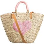 SUZANNA Stroh-Shopper rosa