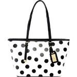 Černobílá kabelka ALDO s puntíky