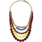 Topshop Beaded Multi-Row Necklace