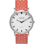 Topshop **Shore Projects Poole Polka Red Strap Watch